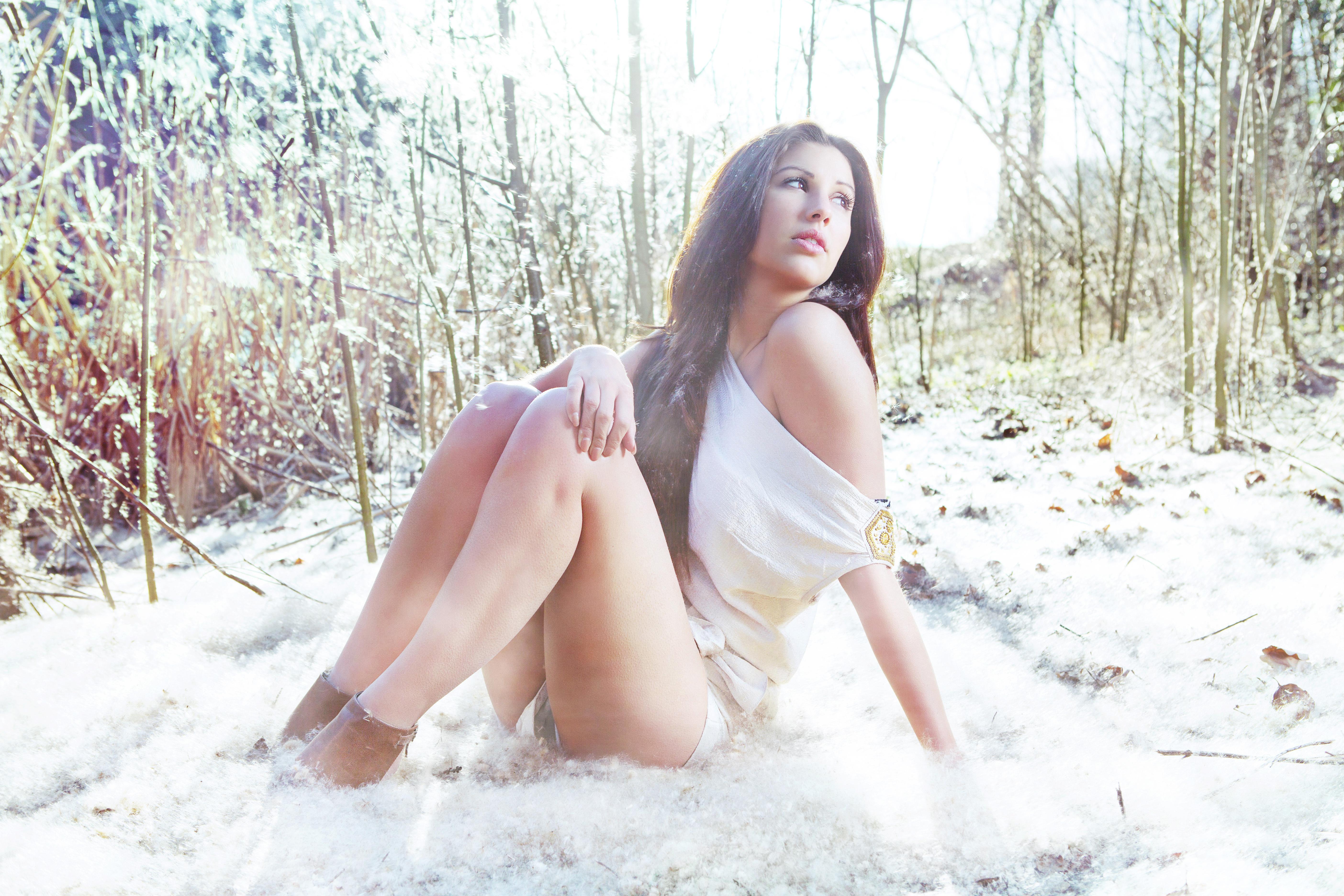 Снег девочка секс 4 фотография